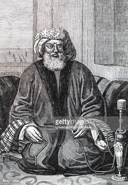 Portrait of Muhammad Ali of Egypt an Ottoman Albanian commander in the Ottoman army who rose to the rank of Pasha and became Wali and selfdeclared...