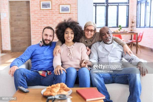Portrait of Multi-Ethnic family
