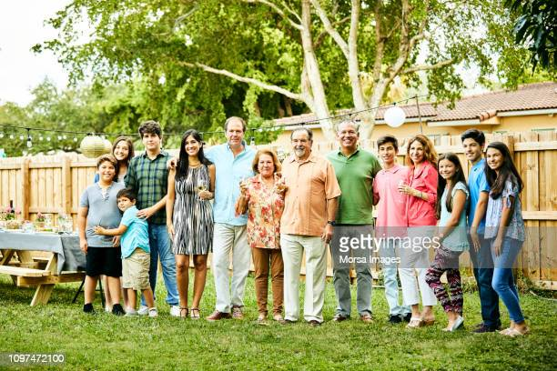 portrait of multi-generation family in party - of miami photos stock pictures, royalty-free photos & images