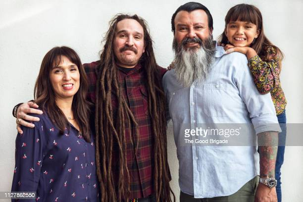 portrait of multi-generation family - uncle stock photos and pictures
