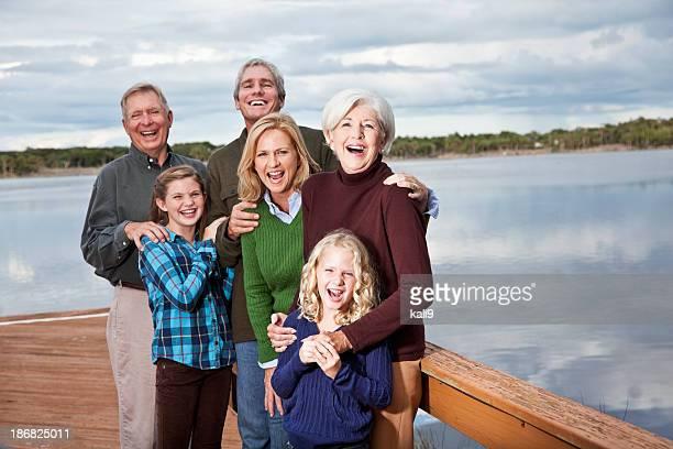 Portrait de multi-génération famille