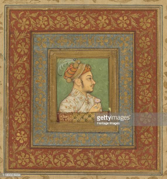 Portrait of Murad Bakhsh circa 1635 The youngest son of Shah Jahan wears a stylish jama not unlike the example on view on the adjacent wall and the...