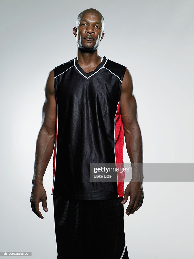 Portrait of muscular basketball player : Foto stock