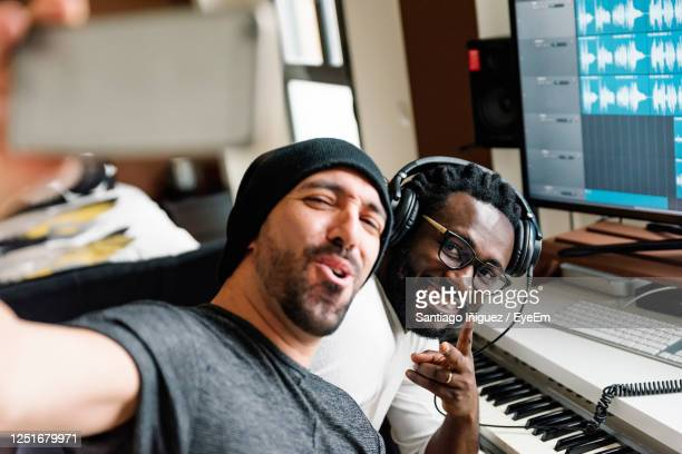 portrait of music composers in studio - composer stock pictures, royalty-free photos & images