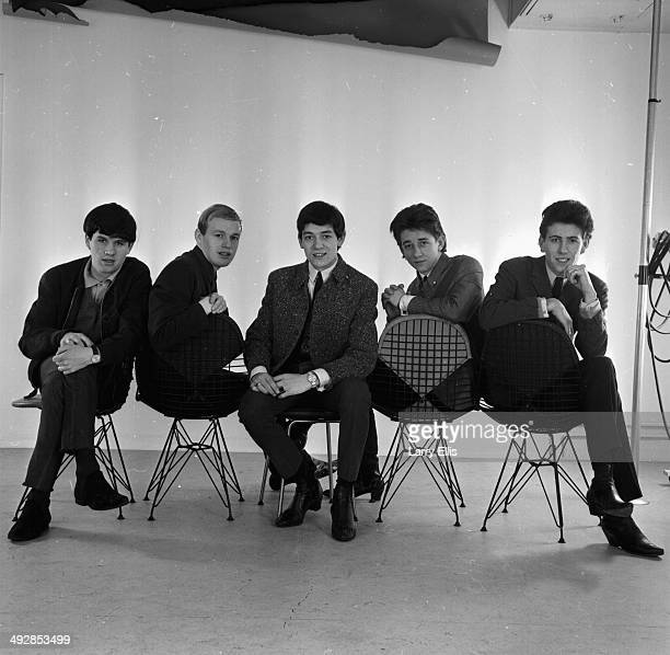 Portrait of music group 'The Hollies' Alan Clarke Bobby Elliott Graham Nash Tony Hicks and Eric Haydock March 18th 1964