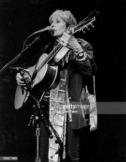 Portrait of musician and activist Joan Baez 1996