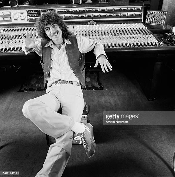 Portrait of musician and composer George Harrison at Hanleyon Thames Oxon England June 12 1978