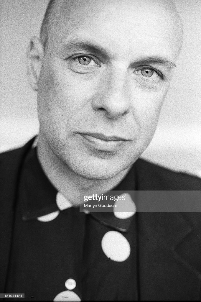 Portrait of musician and producer Brian Eno, London, 1998.