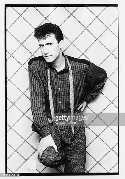 Portrait of musician Andy McCluskey of the band 'Orchestral Manoeuvers in the Dark' Manchester September 28th 1984