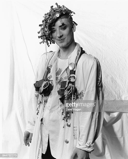 Portrait of musician Boy George March 27th 1987