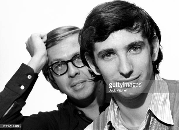 Portrait of musician Charles Wadsworth and conductor, composer, and musician Michael Tilson Thomas, August 1971.