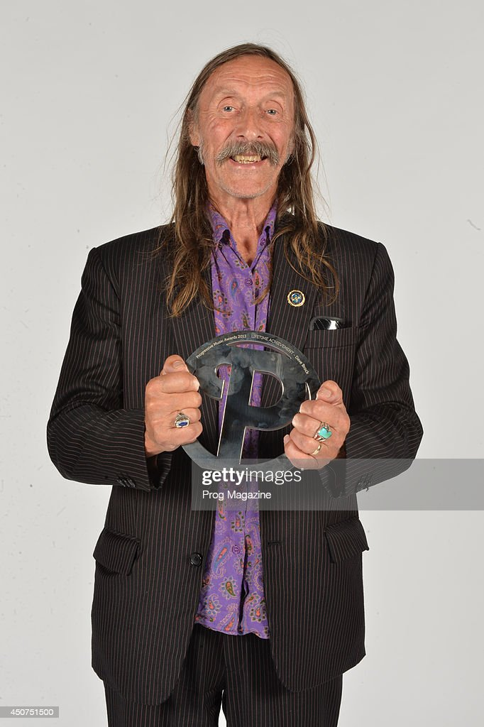 Portrait of musician Dave Brock of Hawkwind, photographed after winning the Lifetime Achievement award at the 2013 Progressive Music Awards at Kew Gardens in London, on September 3, 2013.