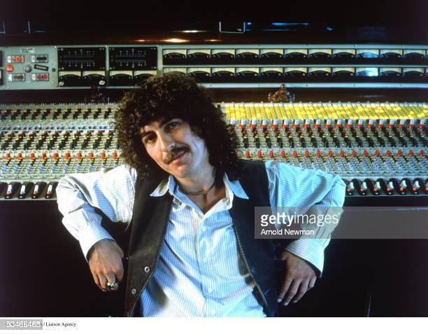 Portrait of musician George Harrison in the studio June 12 in HenleyonThames Oxon England