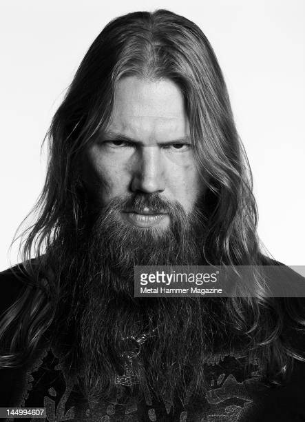 Portrait of musician Johan Hegg vocalist with Swedish death metal group Amon Amarth taken on August 22 2020 in London