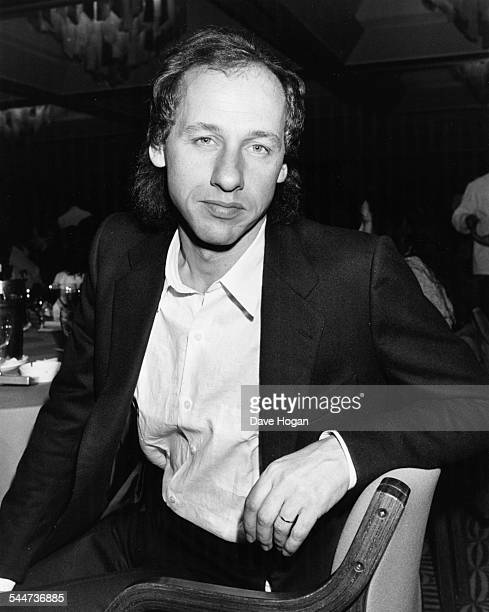 Portrait of musician Mark Knopfler lead singer with 'Dire Straits' attending a charity luncheon to support music therapy at the London...