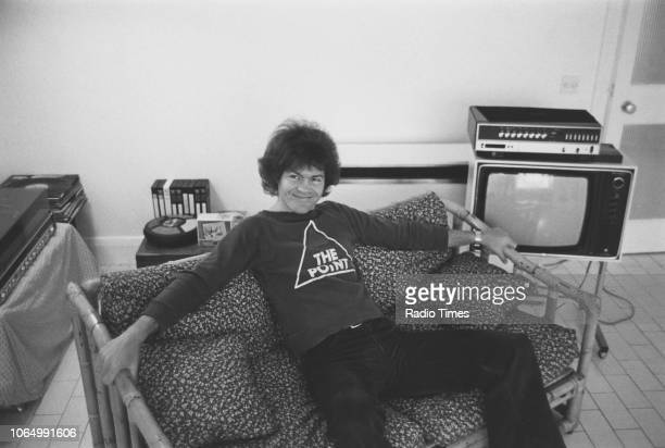 Portrait of musician Micky Dolenz member of the pop group 'The Monkees' photographed for Radio Times in connection with the television show 'The...
