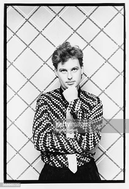 Portrait of musician Paul Humphreys of the band 'Orchestral Manoeuvres in the Dark' Manchester September 28th 1984