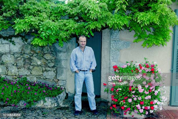 Portrait of musician Phil Collins while on tour in Japan circa 1988
