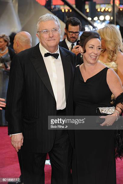 Portrait of musician Randy Newman and his wife Gretchen as they pose together at the Kodak Theater during the 83rd Academy Awards Hollywood...