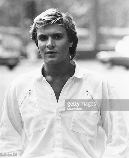 Portrait of musician Simon Le Bon of the band 'Duran Duran' circa 1985
