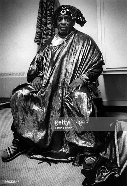 Portrait of musician Sun Ra Oakland California 1991