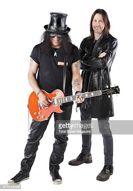 Portrait of musicians Myles Kennedy and Slash photographed in London on June 2 2014
