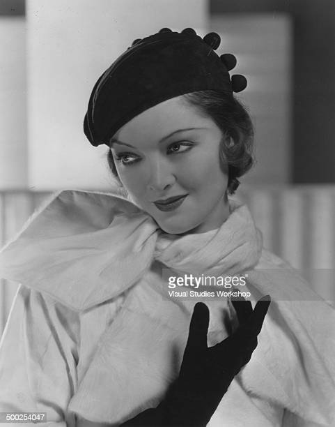 Portrait of Myrna Loy an American film television and stage actress early to mid 20th century