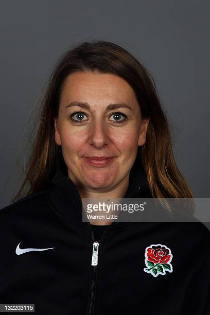 A portrait of Nadine Cooke Operations Manager of the England Sevens Team at The Lensbury Club on November 8 2011 in Teddington England