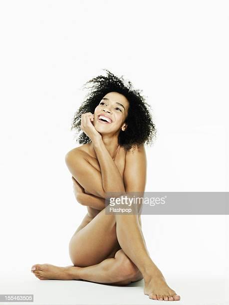 portrait of naked censored woman - mujer desnuda cuerpo entero fotografías e imágenes de stock