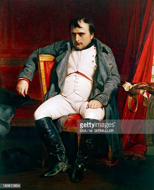 Portrait of Napoleon at Fontainebleau March 31 by Paul Delaroche oil on canvas 138x180 cm Napoleonic Wars France 19th century