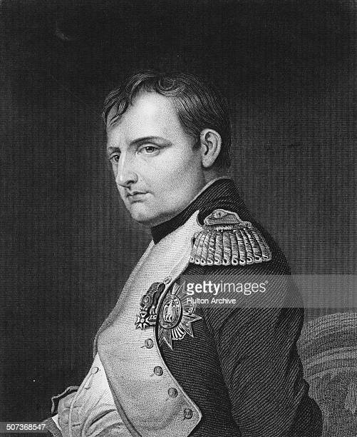 A portrait of Napoleon Bonaparte as Emperor Napoleon 1 of France on 1 June 1815 in Paris France An engraving by Samuel Freeman from a painting by...