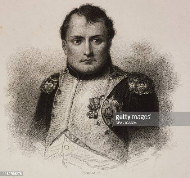Portrait of Napoleon Bonaparte French general and politician engraving by Hopwood 19th century