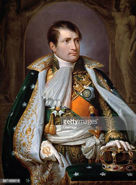 Portrait of Napoleon I Bonaparte as King of Italy by Andrea Appiani 1807 99x73 cm Vienna Kunsthistorisches Museum