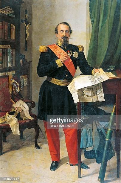 Portrait of Napoleon III ca 1860 President of the French Republic and Emperor of France Painting by Gaetano Belvederi olio su tela Bologna Museo...