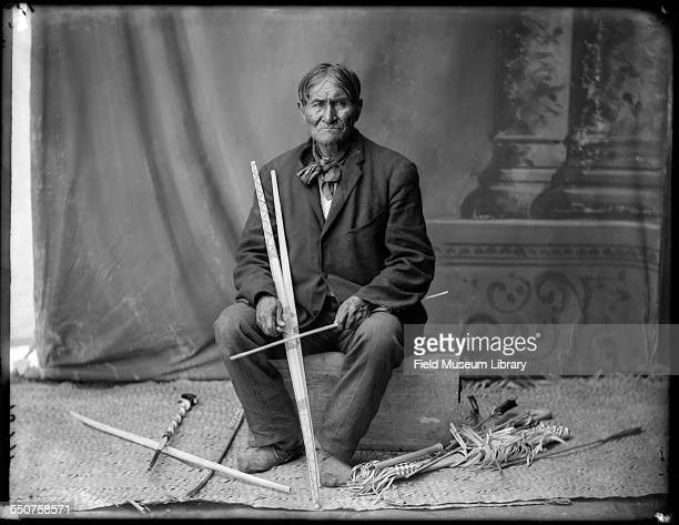 Portrait of Native American Apache Geronimo seated at the Louisiana Purchase Exposition St Louis Missouri June 6 1904