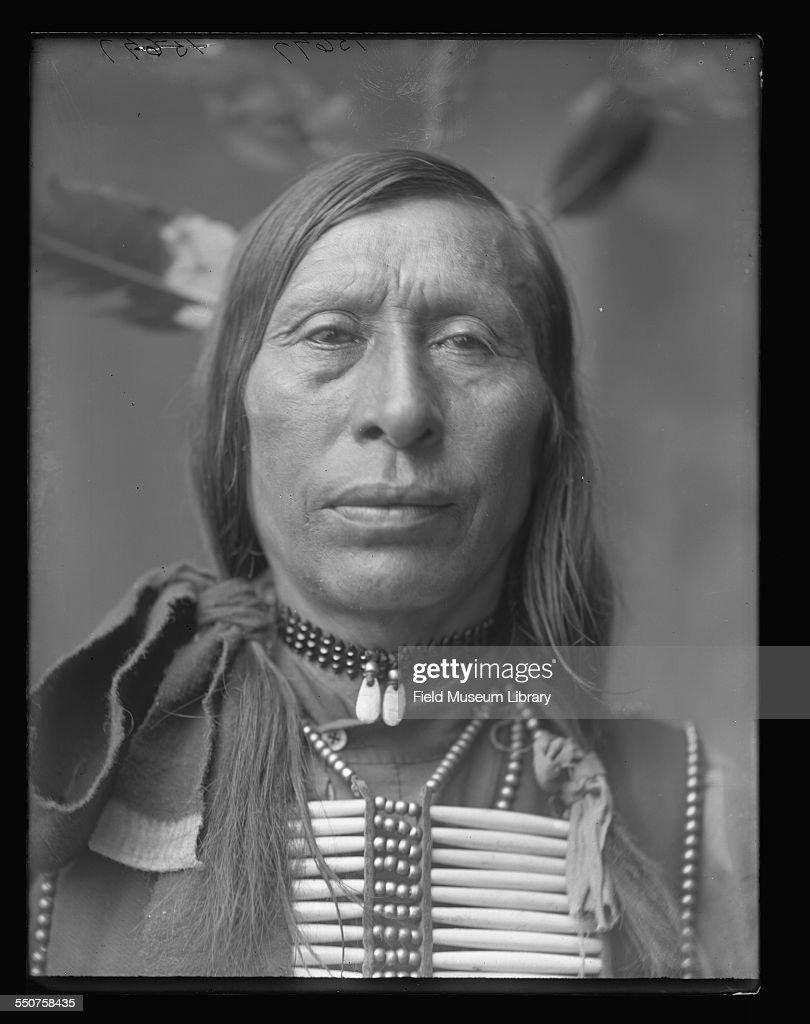 Portrait of Native American Dakota Sioux Chief Hard Heart at