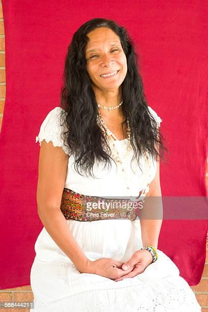Portrait of Native American musician Pura Fe Chapel Hill North Carolina July 17 2015