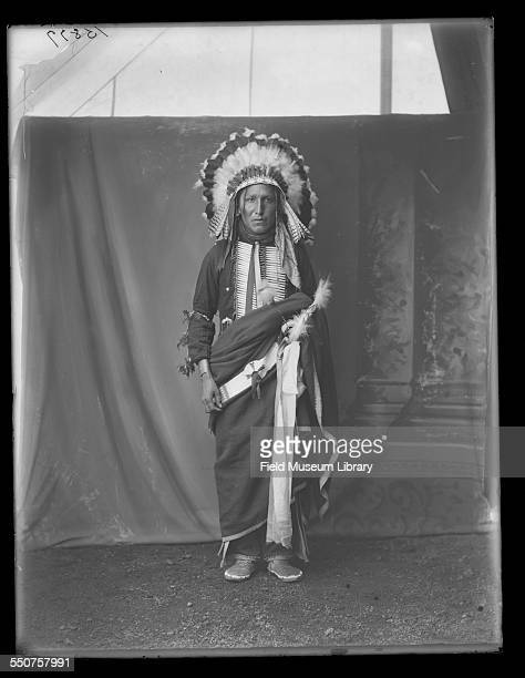 Portrait of Native American Oglala Sioux Eddie Iron Cloud at the Louisiana Purchase Exposition St Louis Missouri June 6 1904