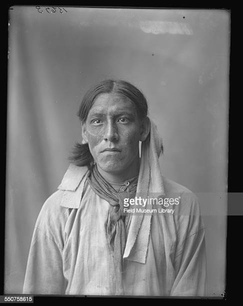 Portrait of Native American Oglala Sioux John Returns From Scout with face paint at the Louisiana Purchase Exposition St Louis Missouri June 6 1904