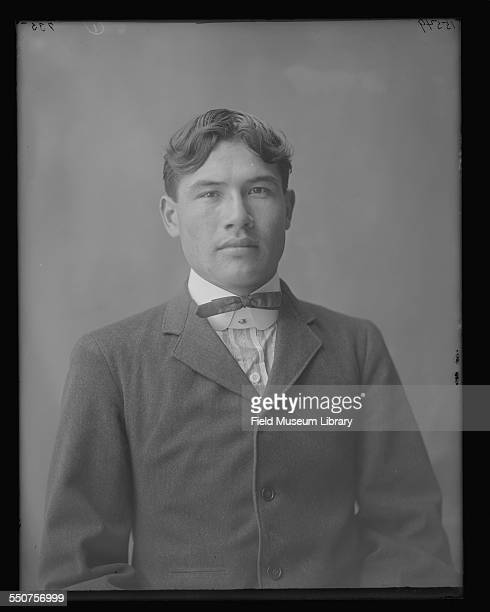 Portrait of Native American Sioux George Menz, aged 24, from German Standing Rock, North Dakota at the Louisiana Purchase Exposition, St Louis,...