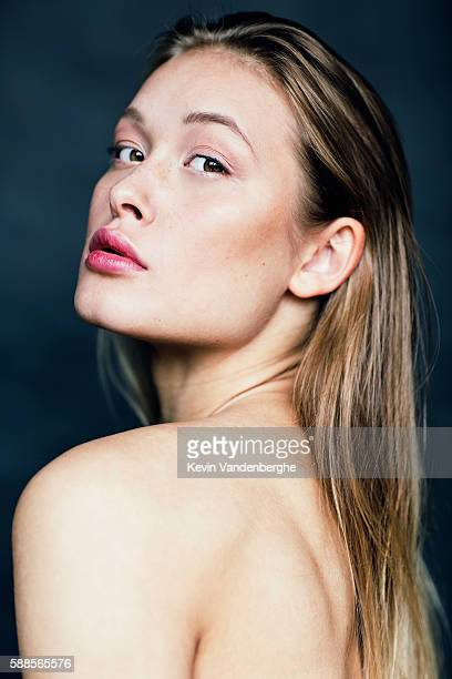 portrait of natural blonde woman