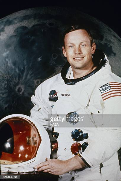 Portrait of Neil Armstrong Commander of Apollo 11 Lunar Landing Mission on May 1 1969 in Houston Texas