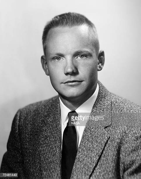 Portrait of Neil Armstrong in 1958 more than ten years prior to the Apollo 11 mission in which he became the first human to set foot on the moon The...