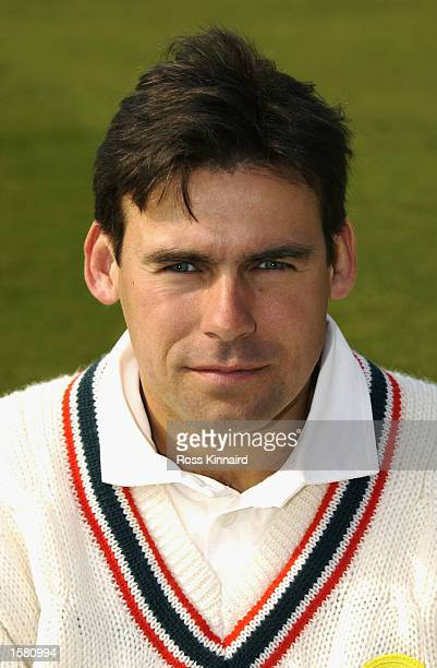 A portrait of Neil Burns of Leicestershire CCC taken during the Leicestershire County Cricket Club photocall held at the County Ground Leicester...