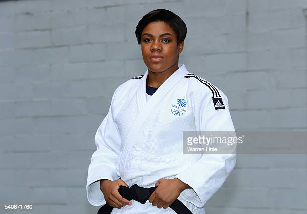 Portrait of Nekoda Smythe-Davis of Great Britain during an announcement of judo athletes named in Team GB for the Rio 2016 Olympic Games at British...