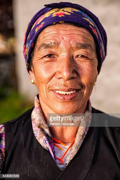 Portrait of Nepali woman in Everest region