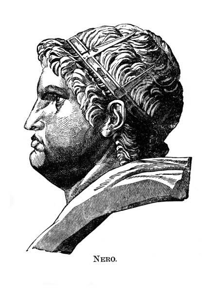 Portrait of Nero (Nero Claudius Caesar Augustus Germanicus), Roman emperor