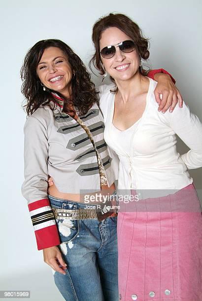 Portrait of Neus Asensi and Adriana Ozores actresses