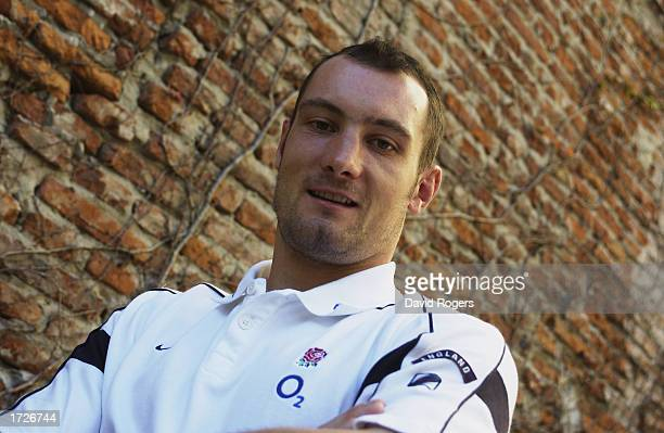 Portrait of new cap Alex Codling of England in relaxed mood who has been selected to play in the test match against Argentina during a photoshoot...