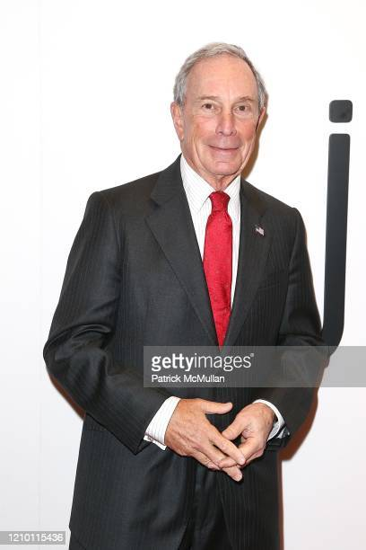 Portrait of New York City Mayor Michael Bloomberg as he attends the dedication ceremony of the Mica and Ahmet Ertegun Atrium in Jazz at Lincoln...